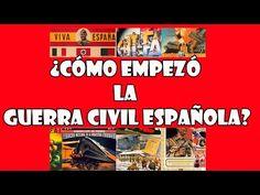 Cómo Empezó la Guerra Civil Española? Resumen - YouTube Spanish War, High School Spanish, Spanish Teacher, Spanish Class, Spanish Lessons, Social Studies, History, Spanish, Maps
