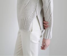 knit pullover with exquisite detailing