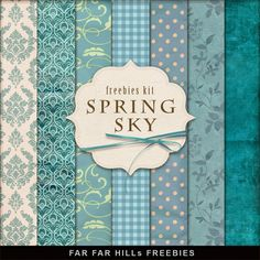 New Freebies Background Kit - Spring Sky:Far Far Hill - Free database of digital illustrations and papers