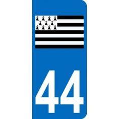 Dynamic 44 Loire Atlantique Breizh Departement Immatriculation 2 X Autocollants Sticker Auto, Moto – Pièces, Accessoires