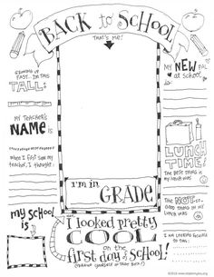 Teacher Favorite Things Questionnaire Printable (Skip To