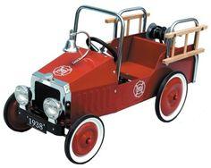 Classic Metal Pedal Car Fire Engine
