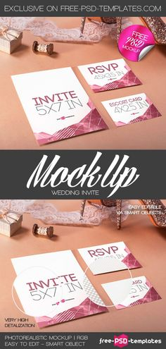 In need of Wedding Invitation Mockup PSD Template? Well, you're on the right way! This mockup is fully layered and is easy-to-edit, so you can easily customize according to your needs and get the desired result in no time. Get it for free and use it to show your original design and interesting ideas. Enjoy for free today!