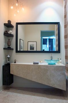 Riverwoods Project Contemporary Powder Room Chicago Orren Pickell Building Group Bathroom Corner