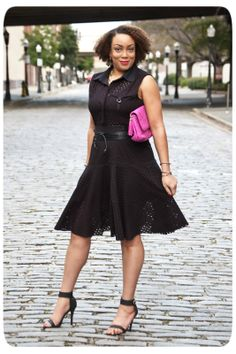 Feeling like Spring | A Black Eyelet Shirt Dress! | Erica B.'s - D.I.Y. Style!