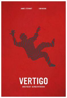 Vertigo (1958) ~ Minimal Movie Poster by Calm the Ham ~ Hitchcock Series #amusementphile