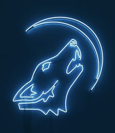 Rizon Parein Neon Sign The Wolf and the Moon