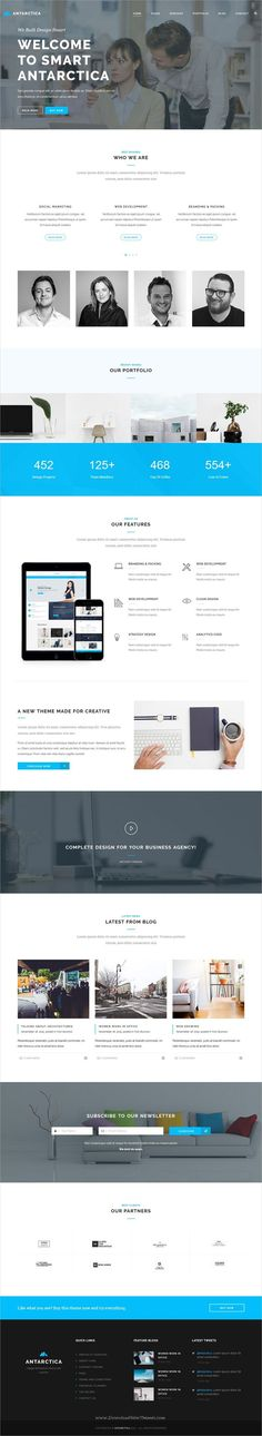 Nice Internet business service 2017: Antarctica is a modern and unique 5in1 responsive HTML5 #bootstrap template for ... Free Bootstrap Themes Collection
