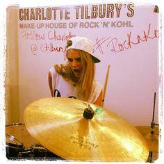 Cara Delevingne Shows Off Her Drumming Skills At Charlotte Tilbury's Rock 'N' Kohl