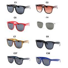 Fashion New Brand Solid Color Wayfarer Sunglasses UV400 1028# $7.50