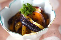 蒸しナスのゴマ酢がらめのレシピ・作り方 - 簡単プロの料理レシピ | E・レシピ