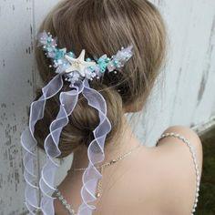 Flowergirl Beach Themed Bridal Comb/ Destination Wedding