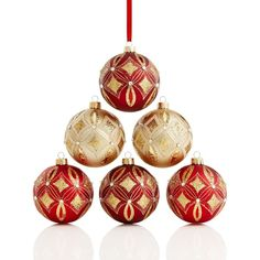 Ball Balls Decorations Red And Gold Ornaments  Wreaths And Other Seasonal Decor