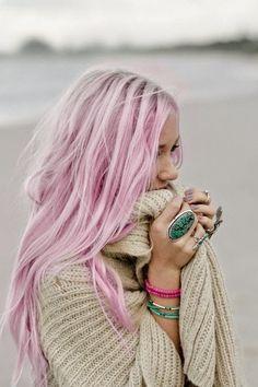 Cabelos de sereia, cabelos coloridos, cabelos em tons pastel...