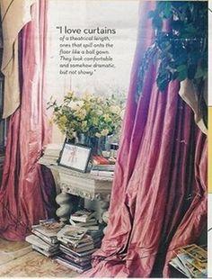 Nigella Lawson's very romantic curtains