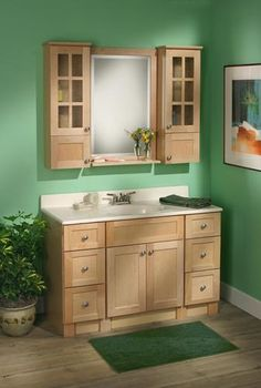 Maple Bathroom Vanity Cabinets this inviting guest bath features showplace hickory in a non-inset