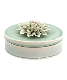 Pale Ocean Flower Oval Box #zulily #zulilyfinds