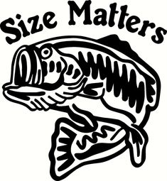 Size Matters Bass decal-Fishing boat auto graphic