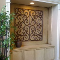 Art Niche Design Ideas, Pictures, Remodel, and Decor -love this for my house Art Niche, Niche Decor, Wall Decor, Niche Design, Wall Design, Wall Nook, Spanish Home Decor, Mediterranean Decor, Hallway Decorating