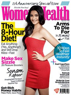 Sonam Kapoor on The Cover of Women's Health Magazine - April 2013 Issue.