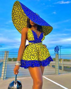 Infinity Romper Ankara Dress