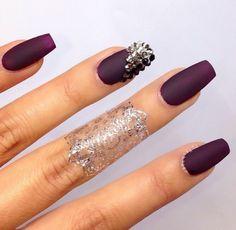 Belleza, Uñas Matte, Purpura, Vino, Hermosas Uñas, Usar, Moda, Colores Uñas, Nail