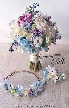 head band for flower girl Bride Flowers, Bride Bouquets, Flower Bouquet Wedding, Silk Flowers, Floral Wedding, Flower Bouquets, Wedding Themes, Wedding Colors, Wedding Decorations