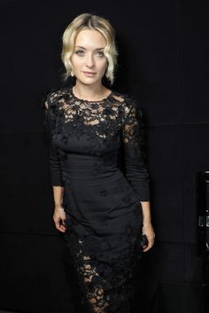 Dolce & Gabbana, black lace. Vintage inspired with modern appeal ... Gorgeous.