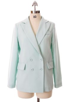 Mint Double Breast Blazer by Chic+