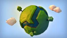 Green Low Poly Planet by DaRkLmX.deviantart.com on @DeviantArt