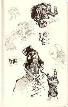 Sketches 3 (2012) by Manuel Regalado, via Behance