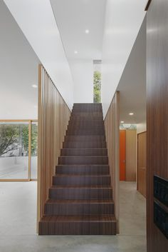 Capitol Hill House por SHED Architecture & Design - Architecture Portfolio Interior Stairs, Interior Architecture, Architecture Portfolio, Room Partition Designs, Sunken Living Room, Metal Siding, Wood Stairs, House On A Hill, House 2