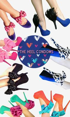 The Heel Condoms <3 versatile shoe accessories to glam up your shoes.