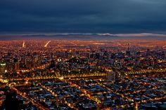 Santiago de Noche / Santiago at Night, Chile