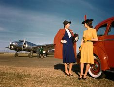A small collection of beautiful color photos from a promotional photo shoot of Lockheed Electra aircrafts for Delta Air Lines in Dallas, Tex...