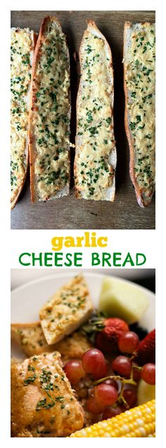 Garlic Cheese Bread at ReluctantEntertainer #fathersday