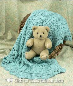 NaturallyCaron.com :: Mayflower Baby Blanket - Crochet - Intermediate Level