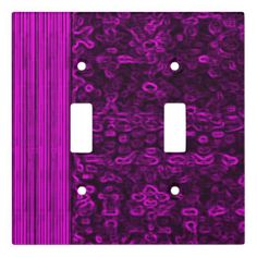 Dusky Violet Double Toggle Light Switch Cover