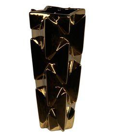 Love this Gold Metallic Ceramic Vase on #zulily! #zulilyfinds