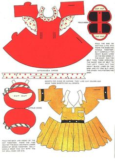 WOOD DOLLS With ROUND ABOUT DRESSES Designed by Betty Campbell from Milton Bradley Company 7 of 10