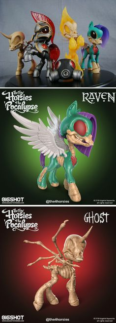Four Horsies of the 'Pocalypse collectible art toy figures by Tenacious Toys — Kickstarter #toy #art #designertoy