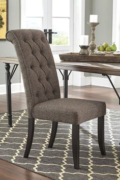 Tripton Upholstered Side Chair In Graphite