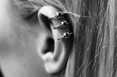 triple cartilage piercing
