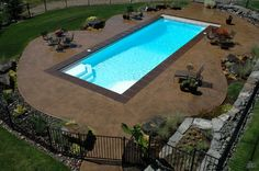 inground pool landscape and backyard inspiration