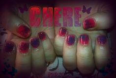 My friend Chere was a hand model. Just a quick cute summer nail design
