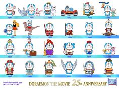 Doraemon. Cartel de 2003.  25 años de películas.