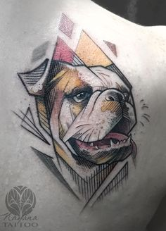 bulldog-geometric-tattoo