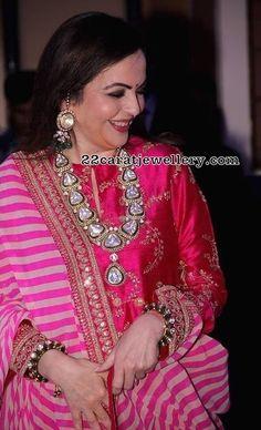 Neeta Ambani in Grand Diamond Kundan Set