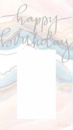 Happy Birthday Posters, Happy Birthday Frame, Birthday Posts, Happy Birthday Wallpaper, Happy Birthday Blue, Birthday Collage, Birthday Captions Instagram, Birthday Post Instagram, History Instagram