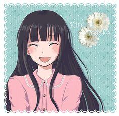 Sawako - Kimi ni Todoke She's smiling! A real smile! Repin it and it will bring you good luck ;)